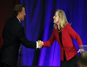 Democrat Abigail Spanberger clings to lead over GOP Rep. Dave Brat in Virginia: Poll.