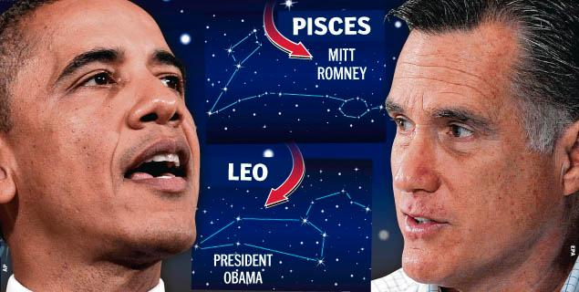What does Obama and Romney\'s sun signs tell?