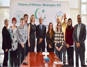 A delegation of us journalists called on ambassador aizaz chaudhry.