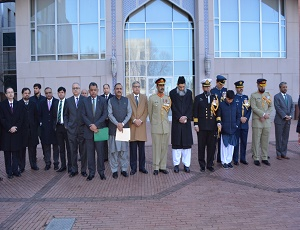 Flag Hoisting by Ambassador Aizaz Chaudhry marks the commencement of Pakistan Day Celebrations across the US