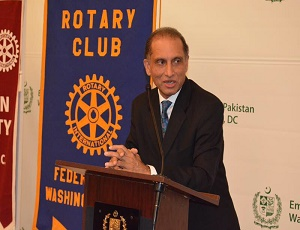 The Rotary Club and American University students jointly organized the AU Rotaract chartering event at the Embassy of Pakistan