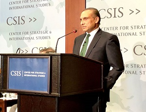 Ambassador Aizaz Ahmad Chaudhry addressing at Center for Strategic ​and International Studies (CSIS)