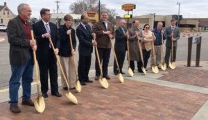 Downtown Streetscape Project Groundbreaking Ceremony.