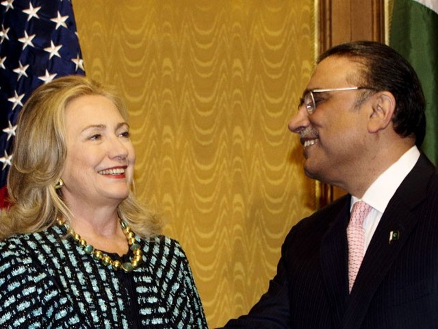 Zardari-Clinton meeting