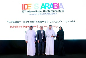 Dubai Land Department wins 'Ideas Arabia 2018' award in technology category