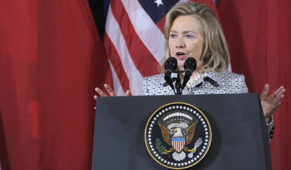 World leaders need to stand up for rights: Clinton