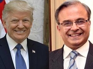 Dr. Asad Majeed Khan presents credentials to President Donald Trump
