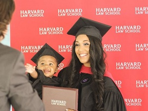 Single mom's inspiring post about graduating from Harvard Law goes viral