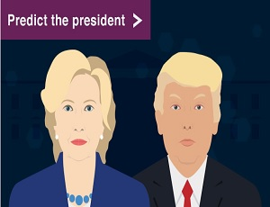 Predict the president: Will Clinton or Trump win the US election? You decide.