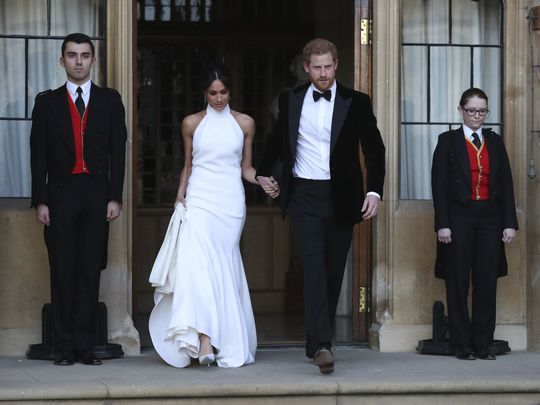 The royal celebration continues: Meghan shines in Stella McCartney reception gown