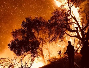 California wildfires: Santa Barbara threatened by Thomas fire.
