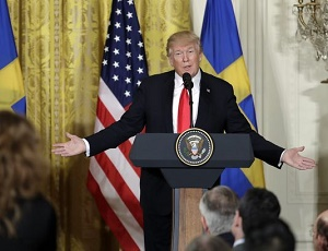 Five takeaways from President Trump\'s news conference with Sweden\'s prime minister.