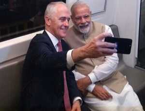 When Australian PM Malcolm Turnbull took selfie with PM Narendra Modi in Delhi metro