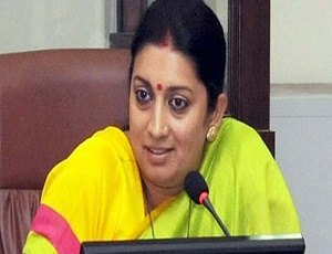 Smriti Irani applauds jute-based sanitary napkins.