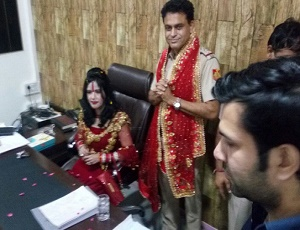 Radhe Maa on Delhi's SHO chair: Two cops suspended for giving VIP treatment to controversial godwoman.