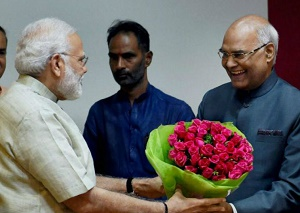 PM Narendra Modi congratulates President Ram Nath Kovind on completing first year in office
