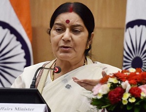 Sushma Swaraj trashes report of Congress leader Shashi Tharoor drafting statement on Kulbhushan Jadhav