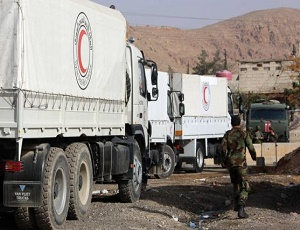 Syria war: UN aid convoy re-enters Eastern Ghouta amid \'calm\'.