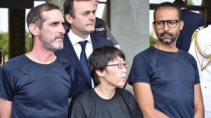 French hostages praise rescue 'from hell' in Burkina Faso