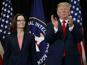 CIA Director Gina Haspel sworn in as Trump blasts Obama\'s CIA director as a \'disgrace\'