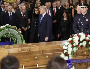 President Trump, Congress honor preacher Billy Graham at Capitol.