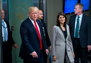Nikki Haley, top Trump aide, will step down as United Nations ambassador at end of the year