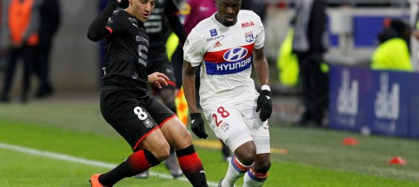 LYON UPSET BY RENNES, LOSE GROUND IN RACE FOR SECOND IN LIGUE 1.