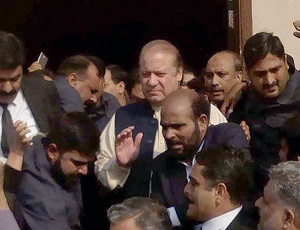 Nawaz arrives at accountability court for hearing in NAB references.