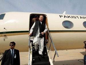 PM Nawaz arrives in Kazakhastan to attend SCO summit