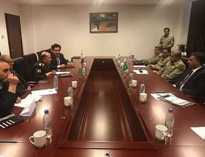 Pakistan can\'t allow your war to spill into its territory, COAS tells Afghan army chief.