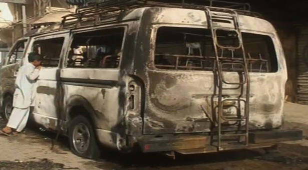 Panic grips Hyderabad as miscreants torch three vehicles