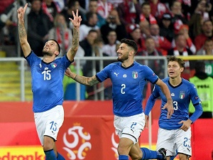 Last-gasp Biraghi saves Italy against Poland