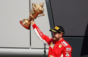 Sabastian Vettel wins British Grand Prix, Hamilton finish second