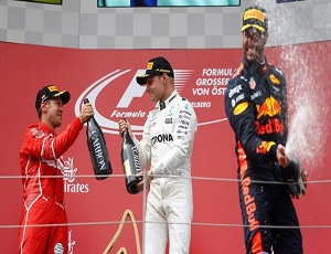 Valtteri Bottas secures second win; Sebastian Vettel extends lead