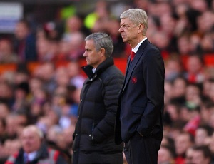 Mourinho, Wenger lock horns as Arsenal host United.