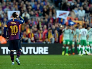 Barca suffer first league home defeat in two years