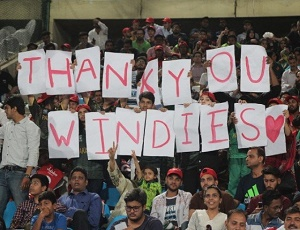 Crowds ecstatic after momentous Pakistan-Windies series