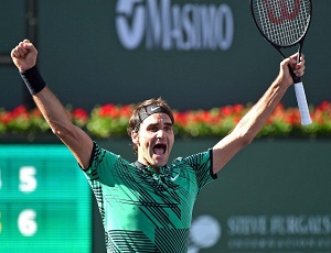 Federer beats Wawrinka to claim fifth Indian Wells title