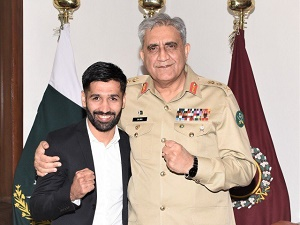 'We are here to support youngsters like you': COAS meets Pakistani boxer Waseem