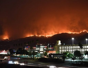 19 wildfires burn in California.