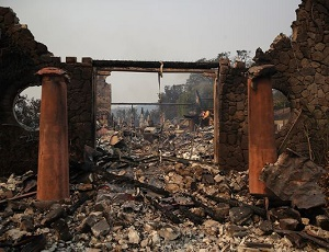 Napa, Sonoma wineries hit hard by wildfires.