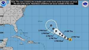 Florence forecast to restrengthen to major hurricane as it approaches East Coast next week