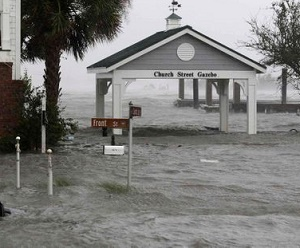 Swansboro, North Carolina, got 34 inches of rain - and it's still coming down